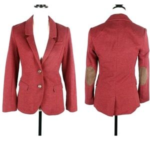 H&M elbow patch button front blazer jacket